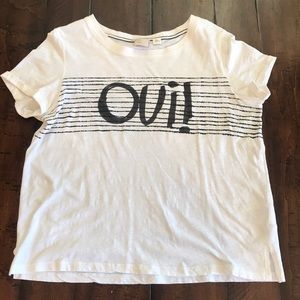 Anthropologie Oui Graphic Tee